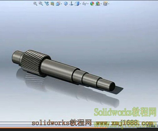 solidworks轴建模