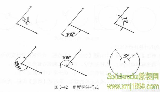 继续选择圆弧的圆心,此时标注尺寸显示为两个端点