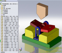 SolidWorksV型弯曲模3D模型